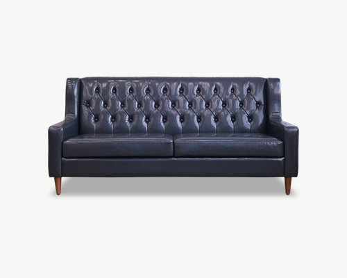 Smukke(스무크) PU sofa 3 Seater - Black