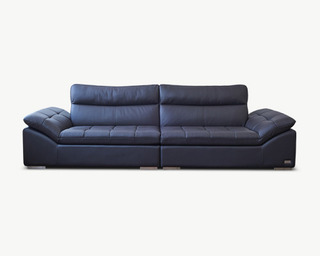 Lehma(레마) leather sofa 4 Seater - Brown