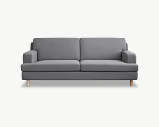 Mukava(무까바) fabric sofa 3 Seater - Grey