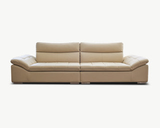 Lehma(레마) leather sofa 4 Seater - Ivory